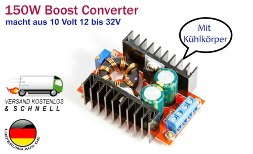 150w 10a Step-up Boost Power Converter para Arduino Raspberry Pi High Power LED