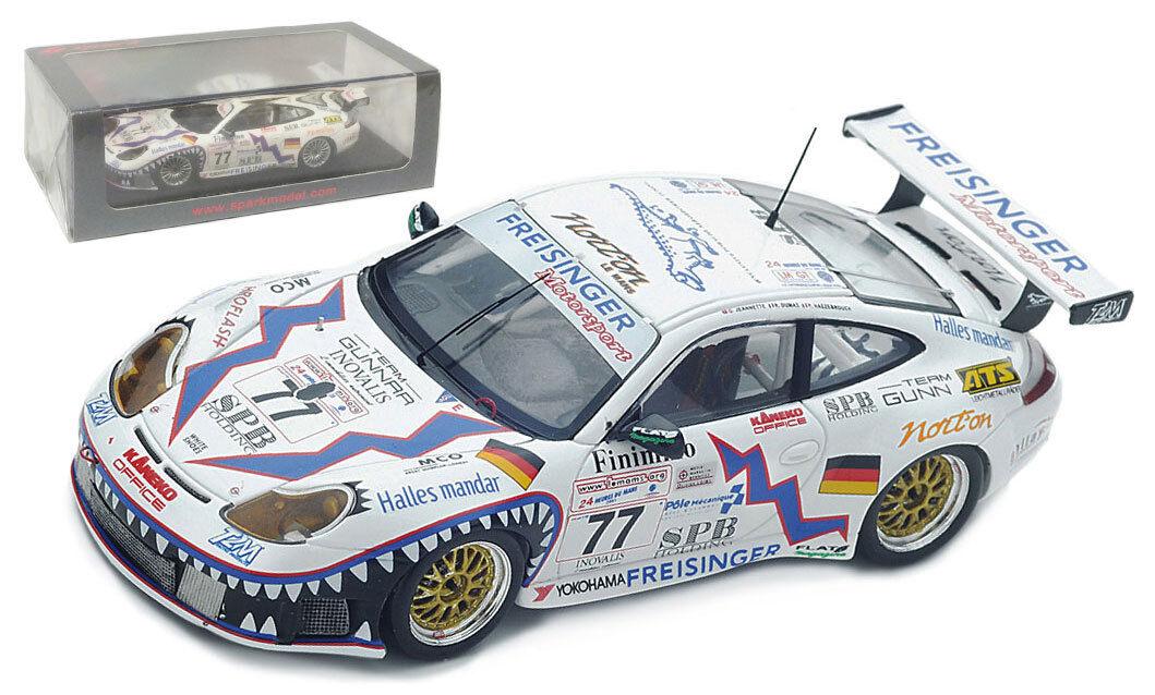 SPARK S4760 Porsche 911 996 GT3-RS 'Institut Motorsport  LE MANS 2001 - 1 43