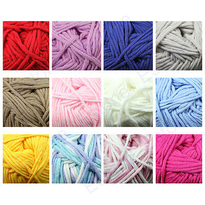 1 Skein High Quality Ultra Soft Coral Fleece Baby Warm Yarn Knitting Hot