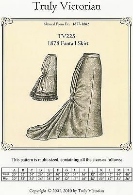 Schnittmuster Truly Victorian TV 297 1898 Flared Skirt