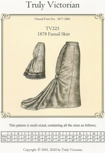 Schnittmuster Truly Victorian TV 225 1878 Fantail Skirt