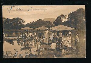 Indonesia Meer van Tjitjangkowang Pleasure Boats used 1921 PPC + message
