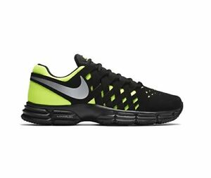 734a5bdfdd2b Men s Nike Lunar Fingertrap Cross Trainer Black Metallic Silver-Volt ...