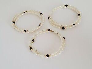 Set of Three Genuine Freshwater Pearl Wrap Style Bracelets!
