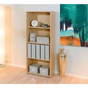 grande tag re biblioth que meuble rangement de salle de bain ou de bureau ch ne ebay. Black Bedroom Furniture Sets. Home Design Ideas