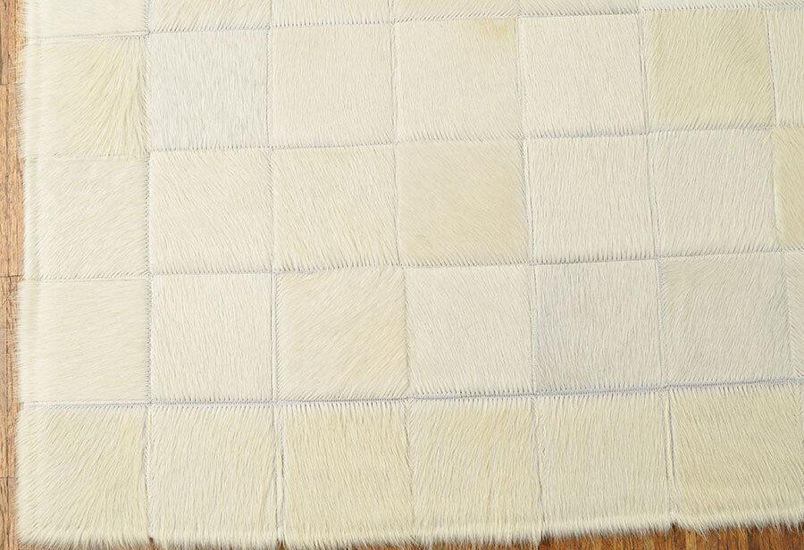 Tapis en cuir de vache blanc ivoire Patchwork 200 x x x 150 cm Tapis peau de vache | Elaborer  5f1c9a