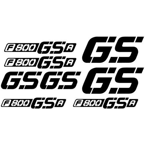 Maxi set BMW F800 GSA Vinyl Decal Stickers Feuille Moto Réservoir Qualité