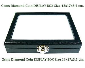 TOP GLASS DISPLAY BOX 13x17 cm. SHOW JEWELRY JAR GEMS STONE DIAMOND COIN No.#12