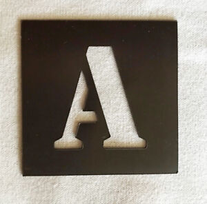 image is loading magnetic alphabet letter stencil individual a z 40mm up