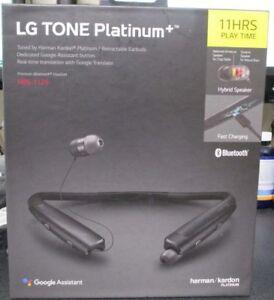 f010352a218 NEW LG TONE PLATINUM+ Plus Bluetooth Headset Black HBS-1125 SEALED ...