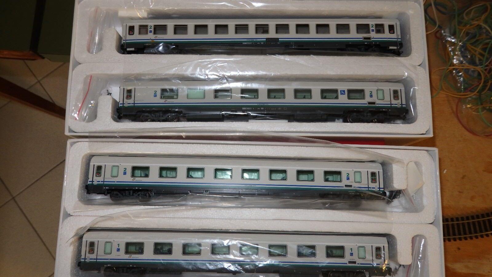"ACME  Set ""IC270   Ex Frecciabianca  4 CARROZZE  livrea XMPR FS 55163+55153"