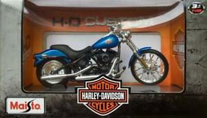 Maisto-Harley-Davidson-2002-FXSTB-NIGHT-TRAIN-Blue-Model-Scale-1-18