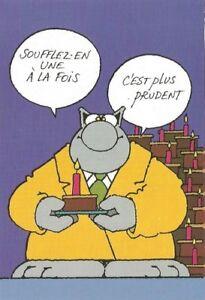 Geluck Le Chat Carte Postale Anniversaire 1 Bougie A La Fois 15x10 5 Cm Ebay