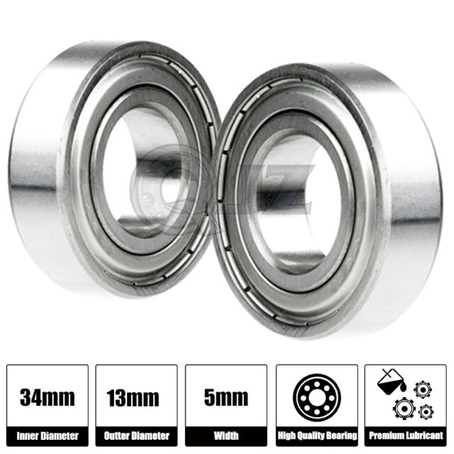 Pack//Lot 10 Sealed Ball Bearing  6x13 ID=6mm OD=13mm width=5mm Metric Diameter