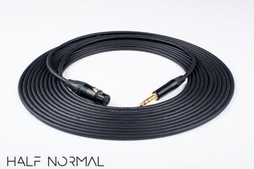 "20/' Mogami 2549 Standard Balanced Neutrik Gold XLR Female to 1//4/"" TRS Black"
