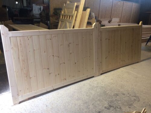 Wooden Driveway Gates Fully Boarded Design New Garden Gate Custom Made 4ft High
