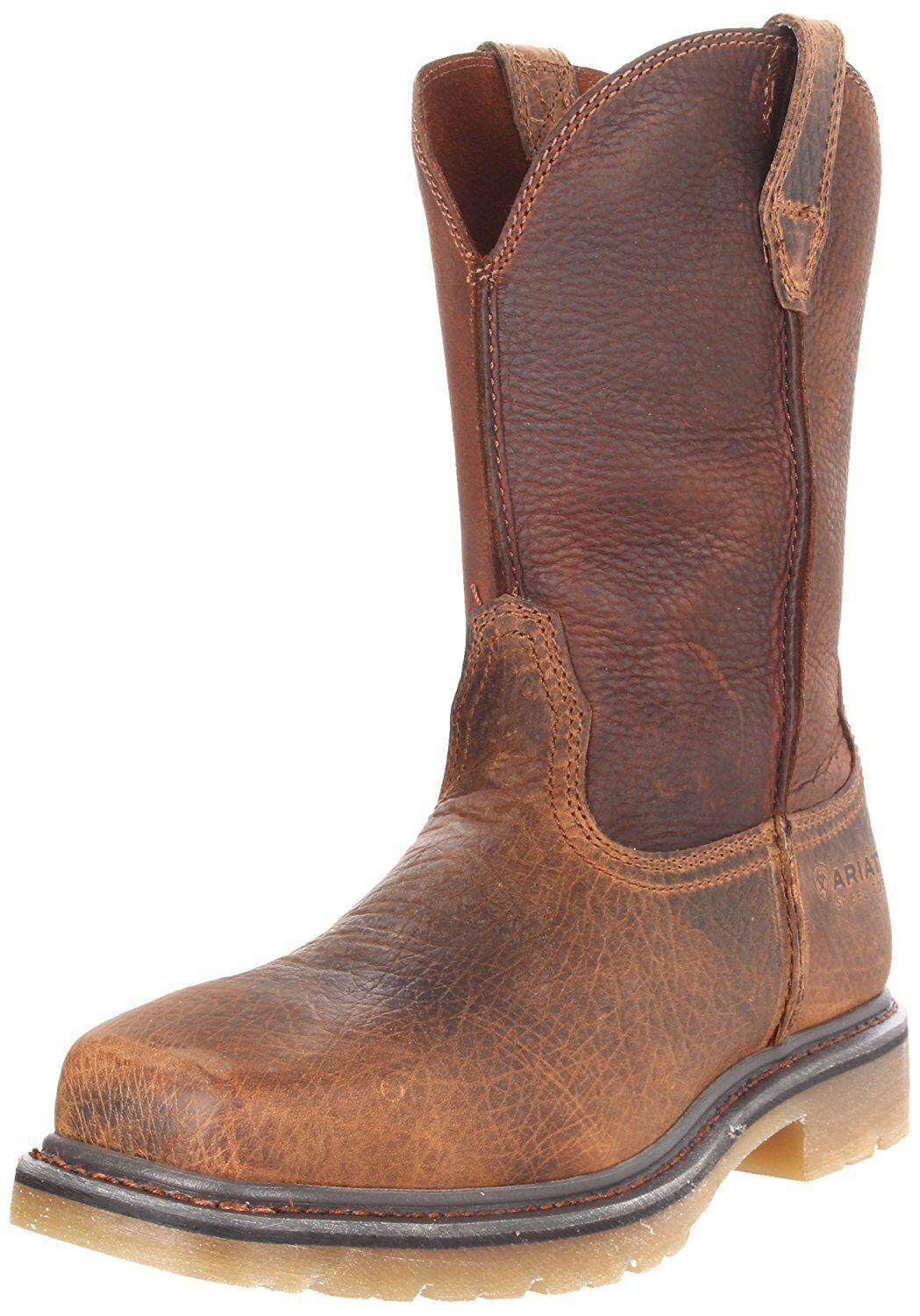 Ariat Mens Rambler Pull-on Steel Toe Work Boot, Earth Brown, 8 2E US