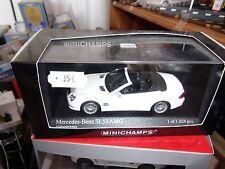 MERCEDES SL 55 AMG 2007 WHITE ALABASTERWEISS MINICHAMPS 400 036170 1/43 NEUF