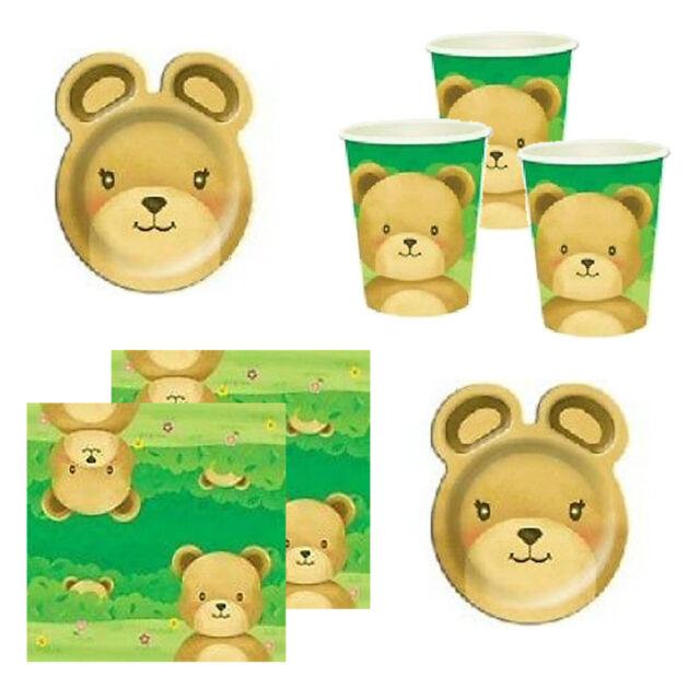 Teddy Bears Picnic Birthday Party Plates Cups Napkins Straws Decorations
