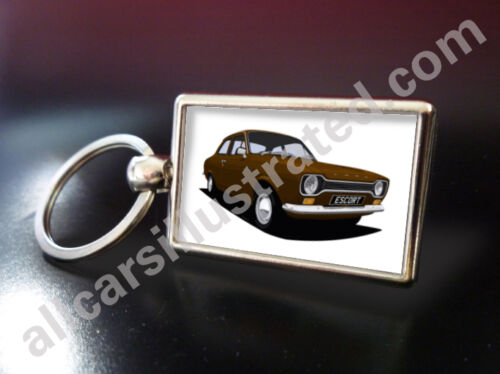 FORD ESCORT MK1 METAL KEY RING CHOOSE YOUR CAR COLOUR.