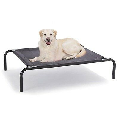 Paws n Claws Large Elevated Pet Dog Bed 110x85CM Raised Heavy Duty Hammock Bed