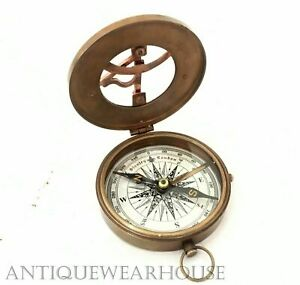 Nautical-Astrolabe-Antique-Brass-Working-Compass-Vintage-Decor