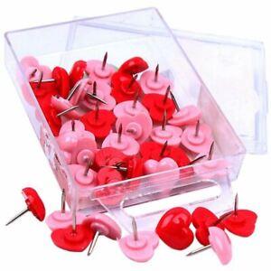 1X-50pcs-poussoirs-de-coeur-babillards-rouges-punaises-rose-mignon-punais-A6R9