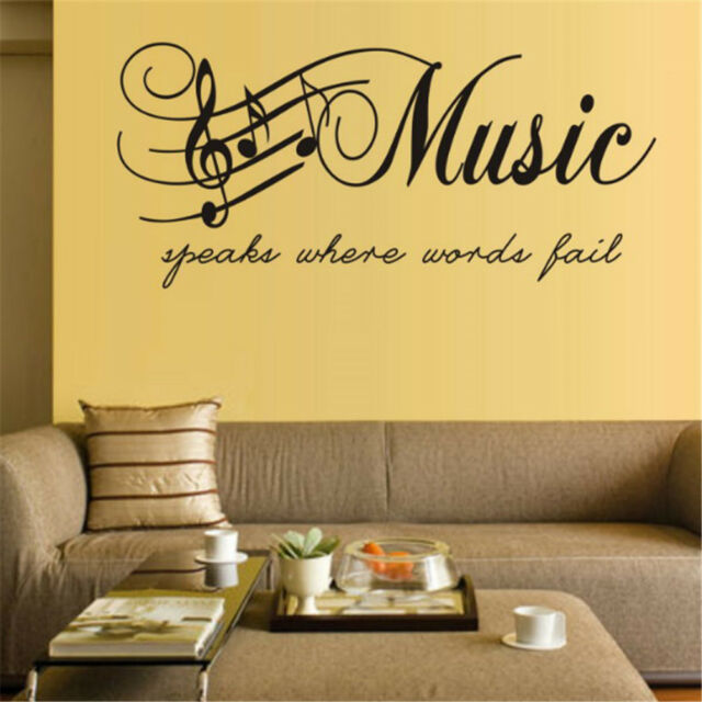1Pc Music Fashion Art Wall Stickers For Living Room Bedroom Decorationnw