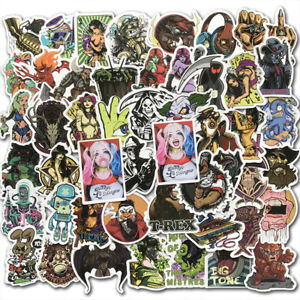 50x-Mixed-Scary-Horror-Themed-Skateboard-Sticker-Bomb-Skull-Blood-Gore-Car-Decal