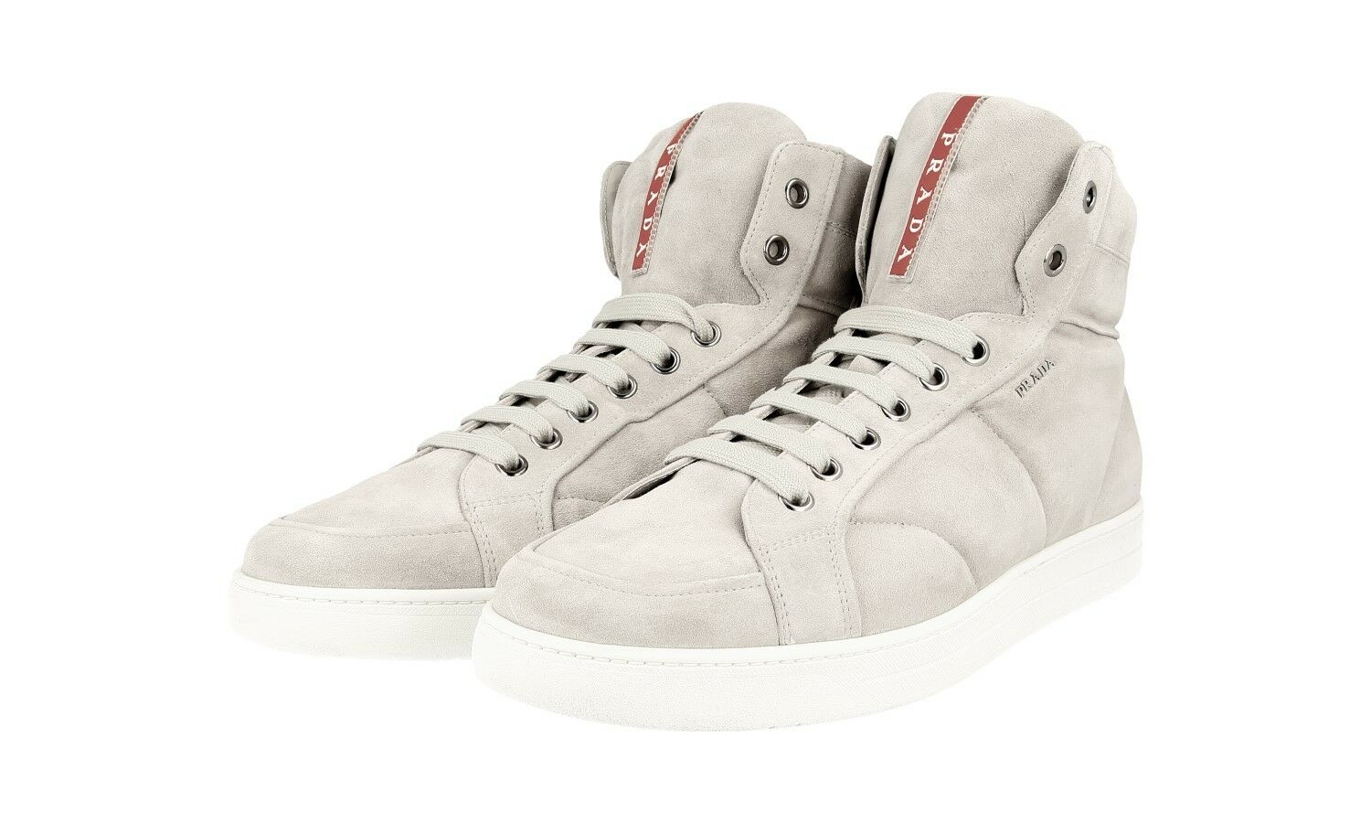 L SO PRADA High Top    4t2596 Asch GRIGIO NUOVO NEW 7,5 41,5 42