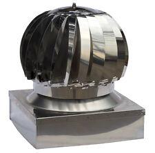 Cappello per camino aspiratore fumi EOLICO inox 304 base quadrata cm.42x42