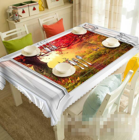 3D Autumn 898 Tablecloth Table Cover Cloth Birthday Party Event AJ WALLPAPER UK