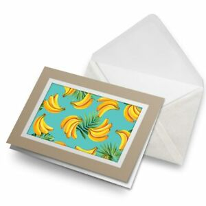 Greetings-Card-Biege-Cool-Banana-Bunches-Tropical-15652
