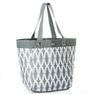 New Essential Storage Tote Thirty One Shopping Bag 31 Charcoal Link Gift Ebay