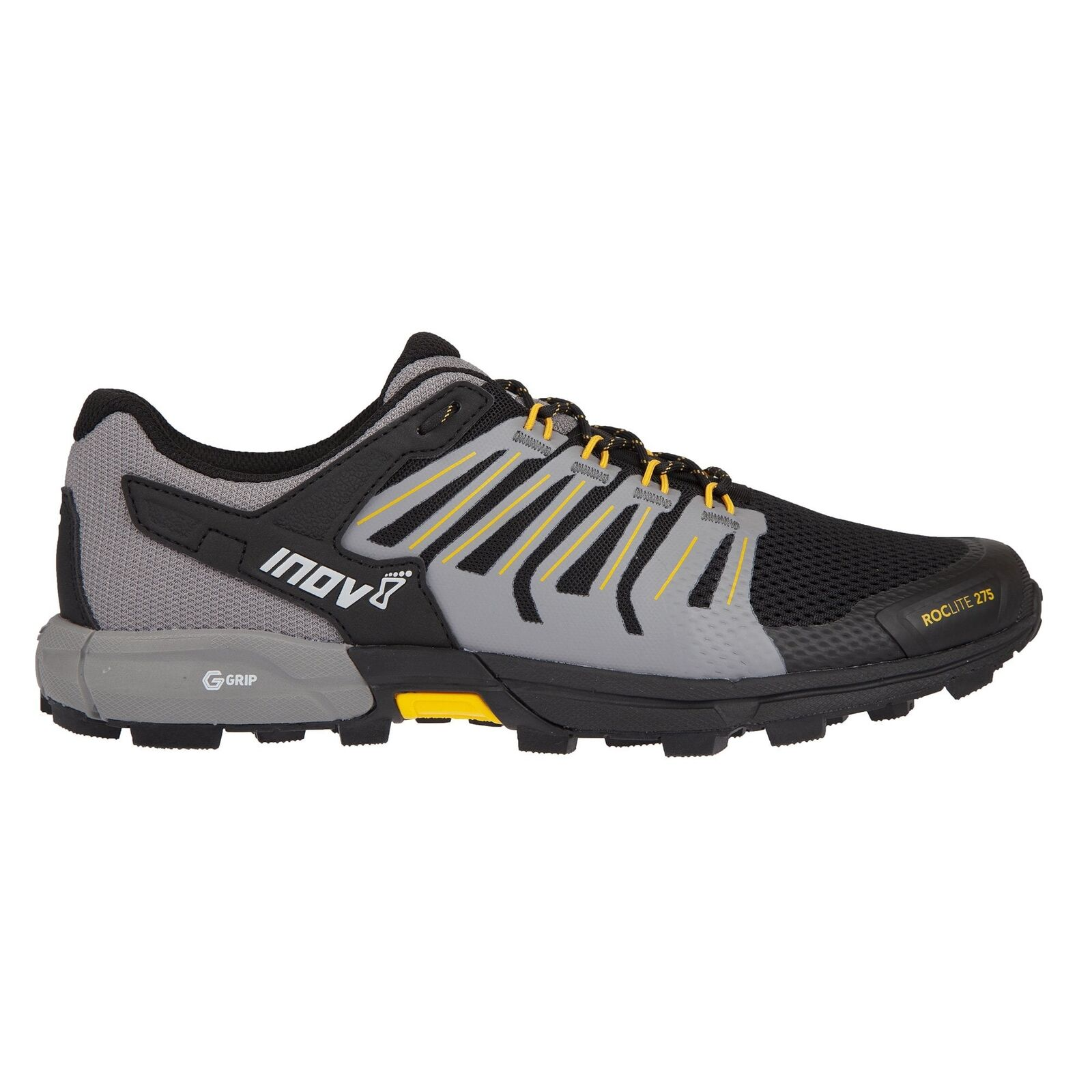 Inov - 8 Roclite 275 Hombre G-Agarre Acolchado Trail Running zapatos (Graphene) Negro