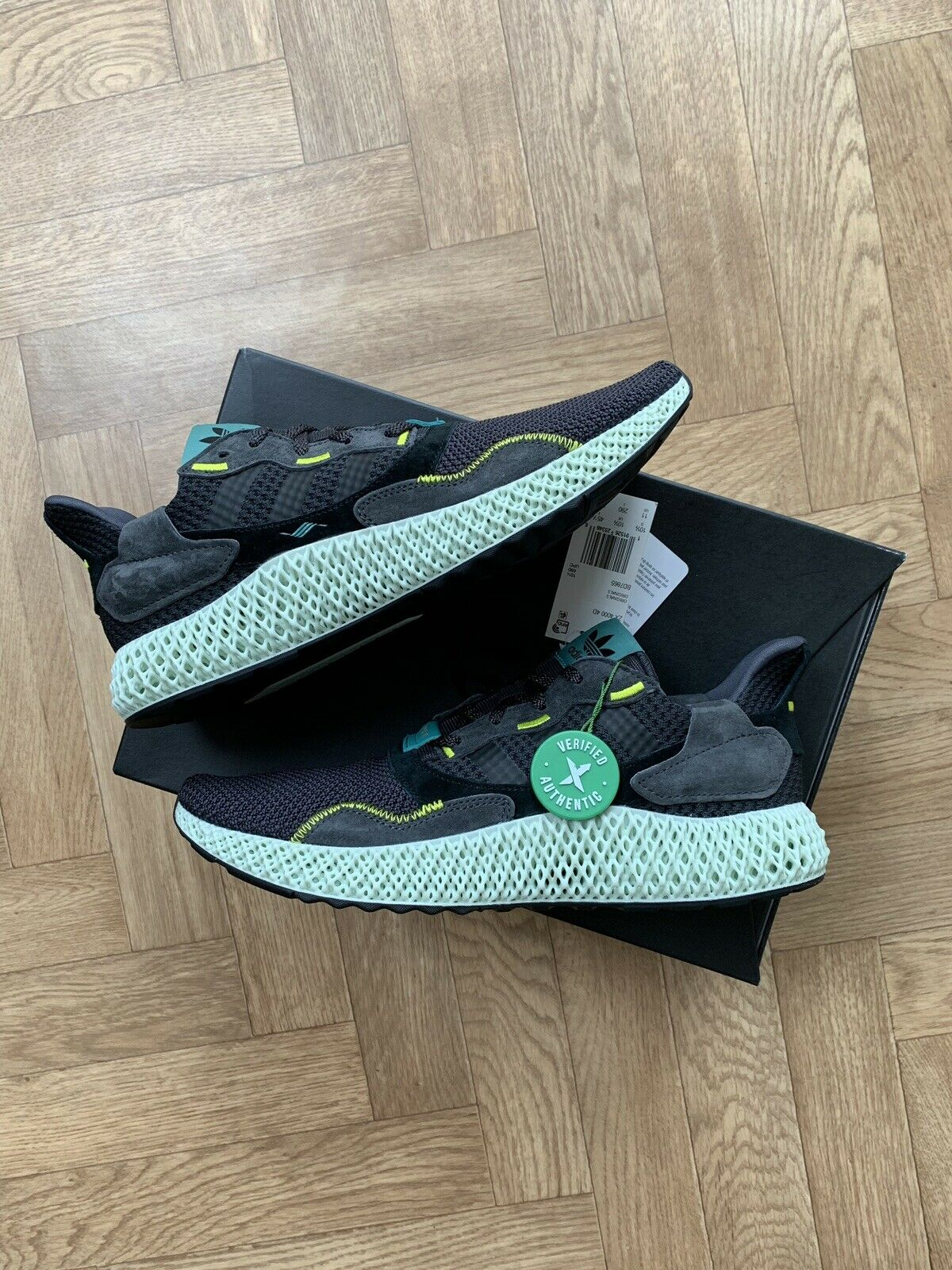 Adidas ZX 4000 4D Futurecraft Carbon Uk Size 10.5 Quality Rare shoes Sold Out.