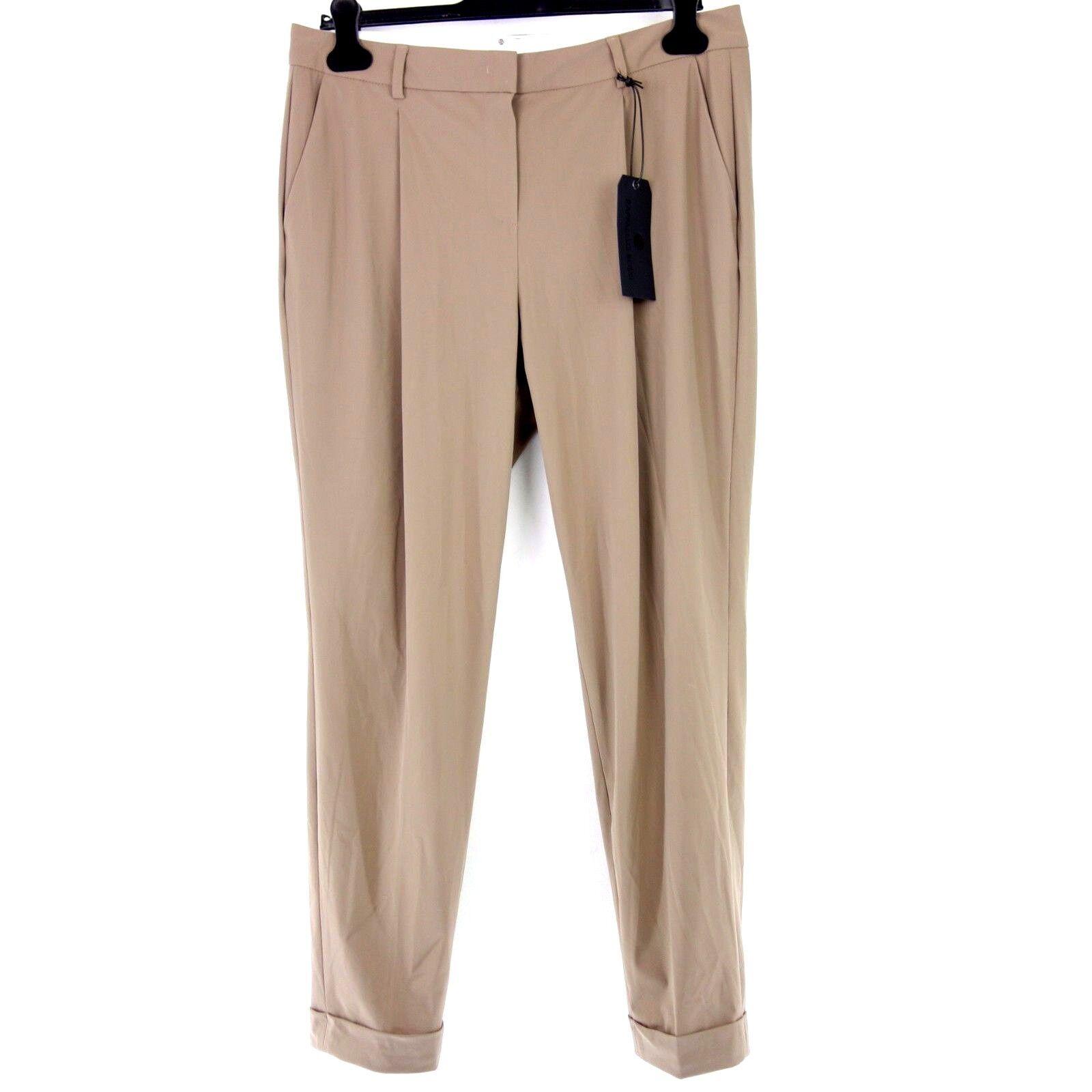 Raffaello Rossi by Schera Women Pants Bena 40 Brown Cloth Trousers Relaxed