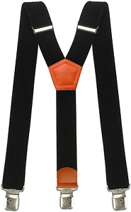 Mens braces wide adjustable and elastic suspenders Y shape with a very strong