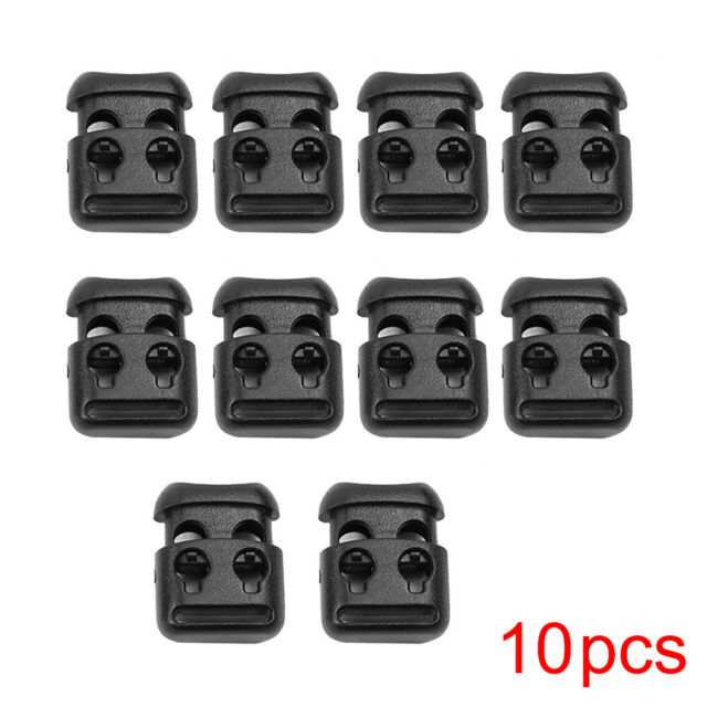 10x Shoe Lace Shoelace Buckle Safety Rope Clamp Cord Lock Stopper Clip Universal