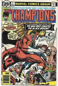 The-Champions-7-1976-FN-Marvel-Comics-FREE-BAG-BOARD