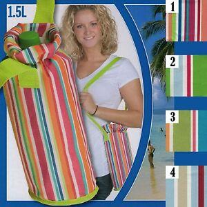 k hltasche f r getr nke flaschen 1 5 l k hlbox flaschenk hltasche gestreift ebay. Black Bedroom Furniture Sets. Home Design Ideas