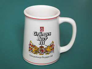100% De Qualité Franklin Mint Porcelain Granges Pilsner Beer Collectors Tankard - Breweries Brillant En Couleur