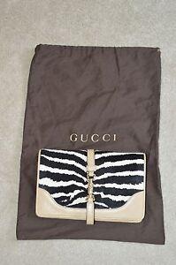 Gucci-Broadway-Zebra-Print-Calf-Hair-Leather-Shoulder-Evening-Clasp-Handbag-Bag