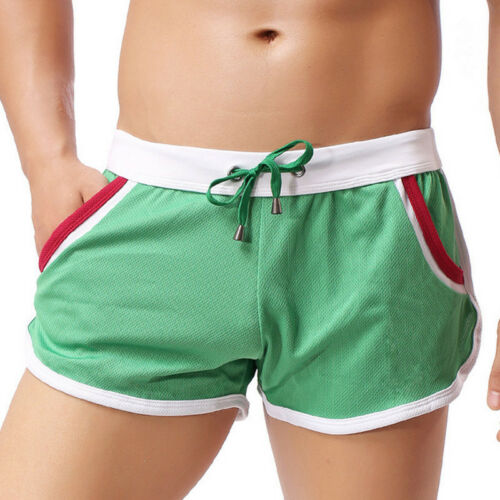 Herren Badeshorts Kurz Badehose Badeboxer Schwimmhose Atmungsaktive Nylon-Shorts