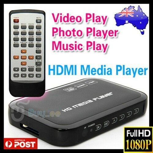 Full HD 1080P HDMI Media Player Center TV HDD MKV SD USB MP4 RM RMVB MPEG AVI OZ
