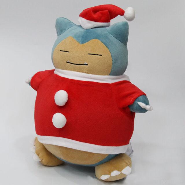 Pokemon Christmas Ornaments.Pokemon Christmas Snorlax Cosplay Santa Claus Soft Plush Stuffed Toy Doll 12