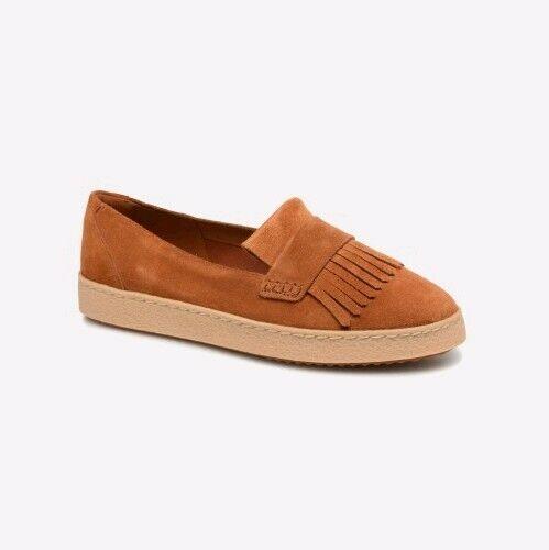100% Vrai Clarks Lilia Lottie Tan Suede Chaussures Femmes/flats 3,3.5d