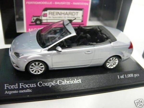 1 43 Minichamps Ford Focus Coupe Cabrio 2008 silbermet.  | Um Eine Hohe Bewunderung Gewinnen Und Ist Weit Verbreitet Trusted In-und