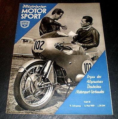 Bernauer Schleife,sturzhelm Neueste Mode Illustrierter Motorsport 10/59 Halle-saale-schleife Automobilia Berichte & Zeitschriften