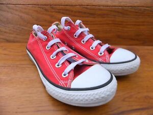 Converse CT All Taglia Star Rosso Tela Casual Taglia All UK 7 EUR 40 66aa08